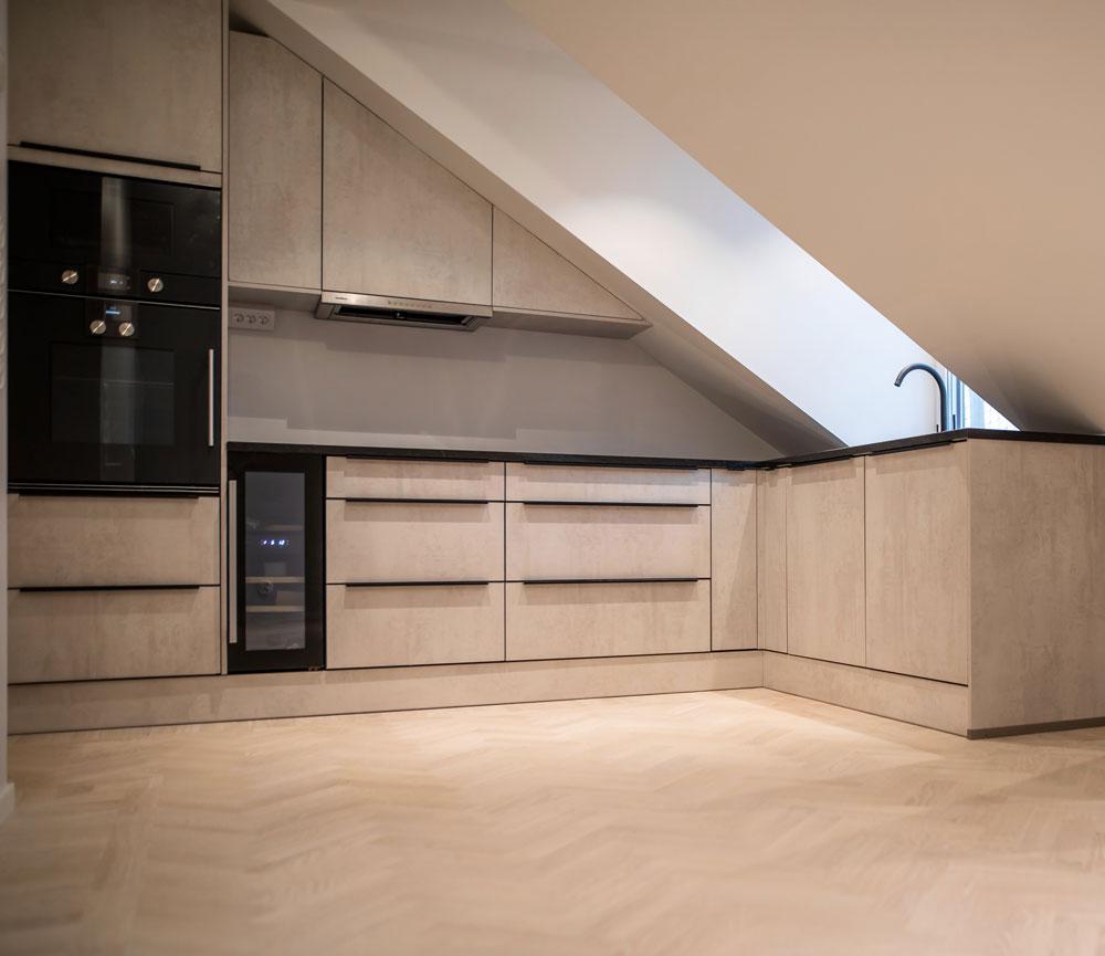 Smart Design trä färgat kök